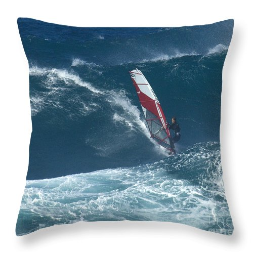 Extreme Sports Throw Pillow featuring the photograph Playing With The Wind by Bob Christopher