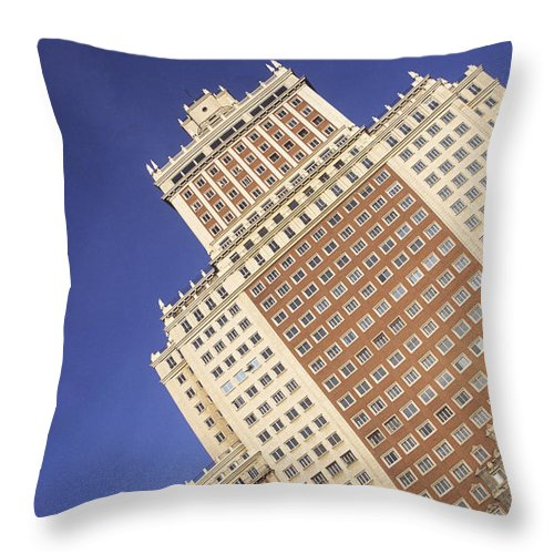 Spain Throw Pillow featuring the photograph Plaza Espana Madrid by James Brunker