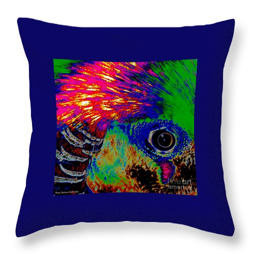 Pheasant Throw Pillow featuring the photograph Pleasant Pheasant by Rose Santuci-Sofranko