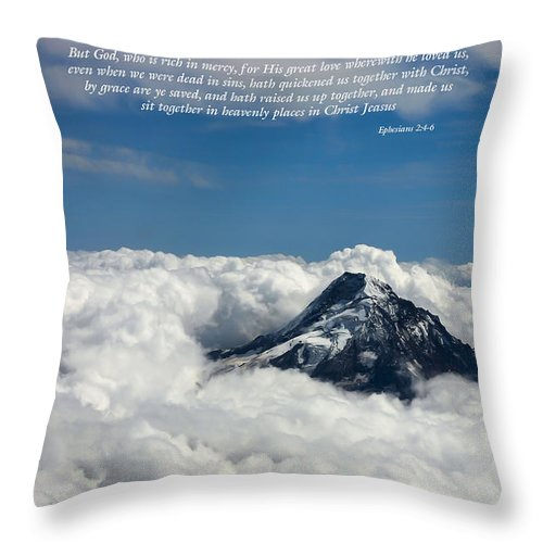 Mt Hood Throw Pillow featuring the photograph Please Be Seated by Tony Tribou