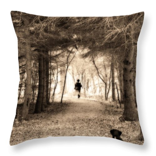 Young Throw Pillow featuring the photograph Please Come Back by Cathy Beharriell