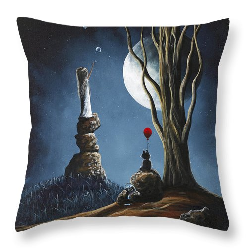 Surreal Art Throw Pillow featuring the painting Surreal Art Print by Shawna Erback by Fairy and Fairytale