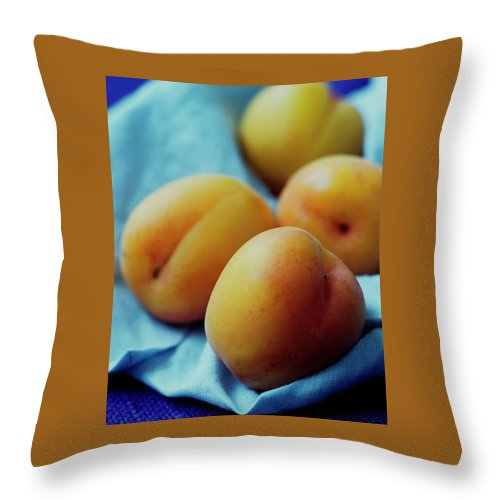 Plumcots Throw Pillow