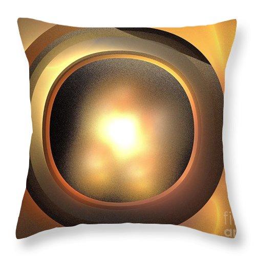 Apophysis Throw Pillow featuring the digital art Plutoid by Kim Sy Ok