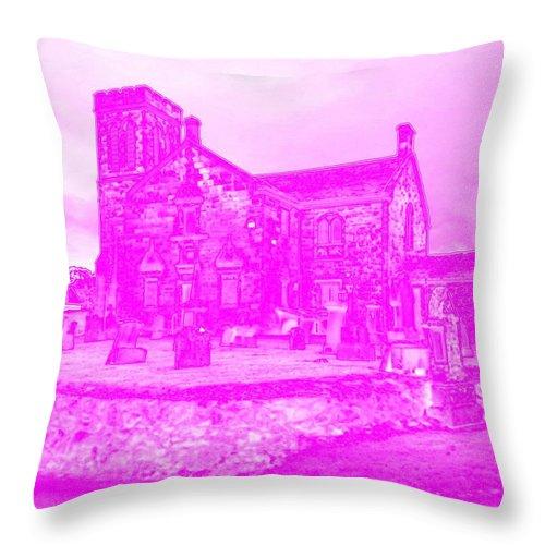 Dunlop Throw Pillow featuring the photograph Plutonium Haze by James Potts