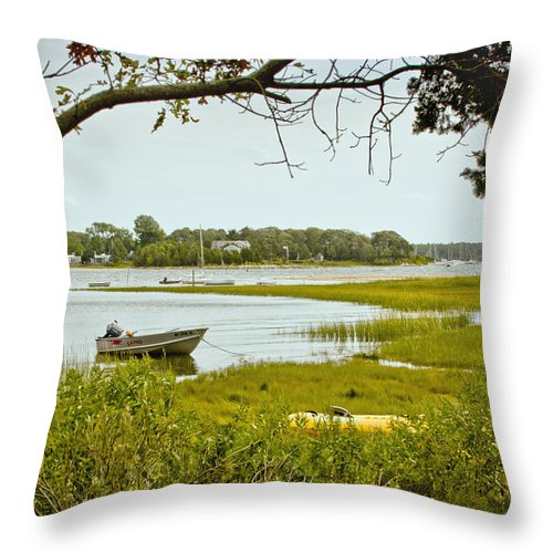 Pocasset Throw Pillow featuring the photograph Pocasset Scenes by Dennis Coates