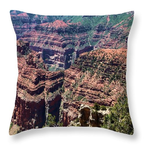 Point Imperial Throw Pillow featuring the photograph Point Imperial View by Adam Jewell