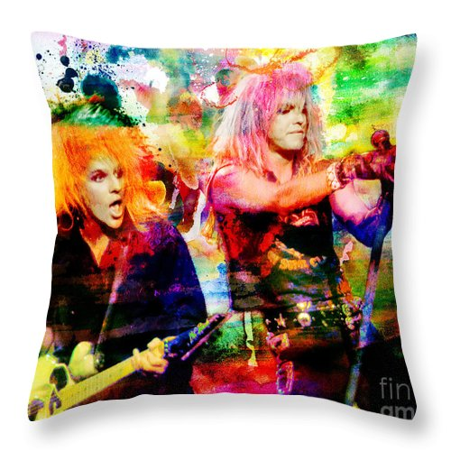 Art Throw Pillow featuring the painting Poison Original Painting Print by Ryan Rock Artist