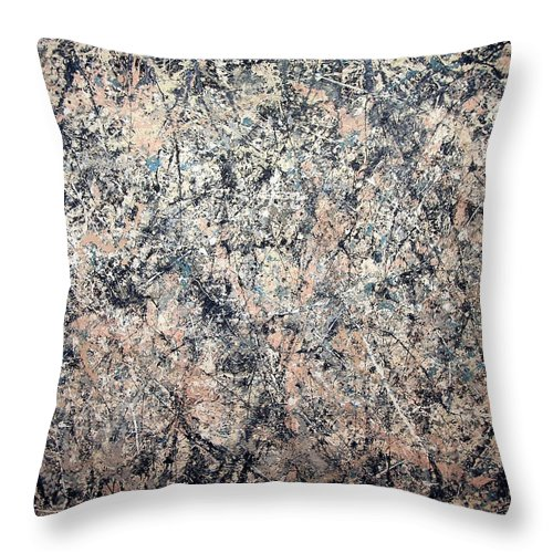 Number 1 Throw Pillow featuring the photograph Pollock's Number 1 -- 1950 -- Lavender Mist by Cora Wandel