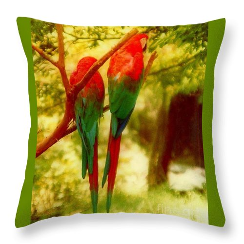 Nola Throw Pillow featuring the photograph New Orleans Polly Wants Two Crackers At New Orleans Louisiana Zoological Gardens by Michael Hoard