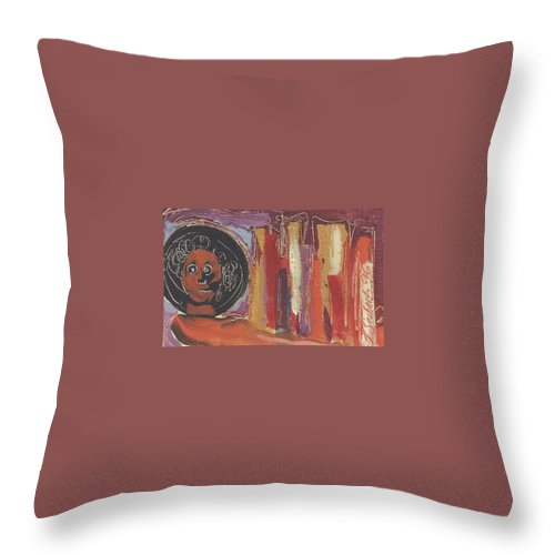 Italy. Italia Throw Pillow featuring the painting Pompeii Postcard by Jeff Seaberg