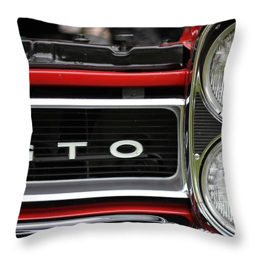 Pontiac Gto Front Throw Pillow featuring the photograph Pontiac Gto Front by Dan Sproul