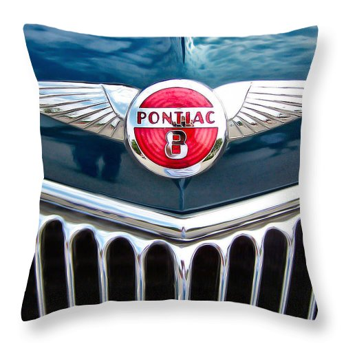 Pontiac Throw Pillow featuring the photograph Pontiac by Nadine Lewis