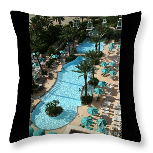 Vacation Throw Pillow featuring the photograph Pool1112b by Gary Gingrich Galleries