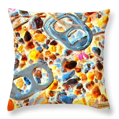 Abstract Throw Pillow featuring the photograph Pop Art b16 by Rrrose Pix