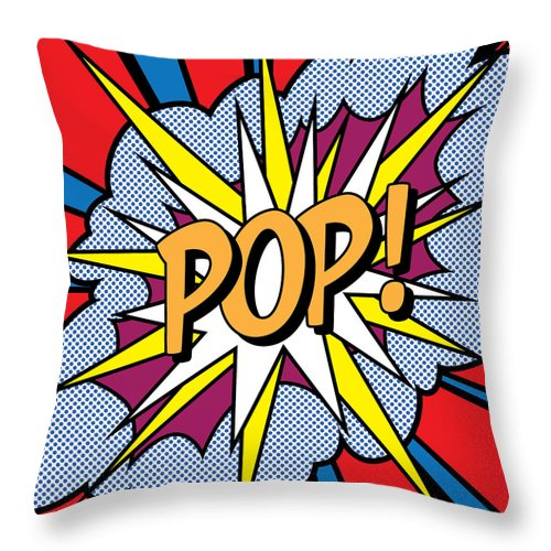 Digital Throw Pillow featuring the painting POP Art by Gary Grayson
