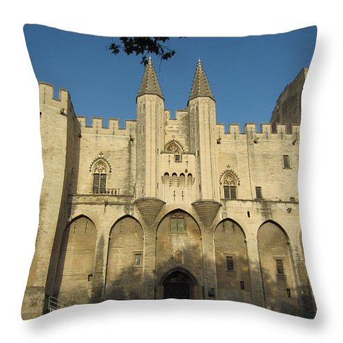 Pope Throw Pillow featuring the photograph Popes Palace In Avignon by Pema Hou