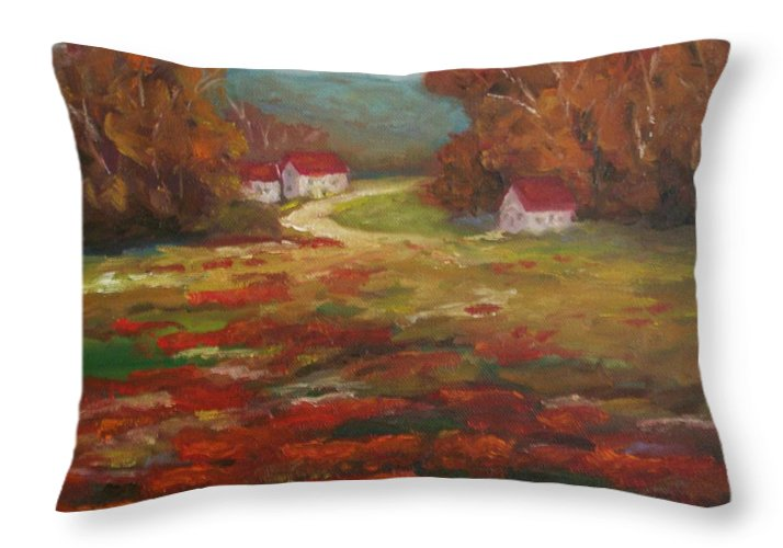 Field Of Poppies Throw Pillow featuring the painting Poppies by Ellen Ebert