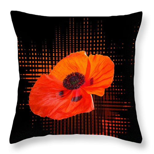 Poppy Passion Throw Pillow featuring the photograph Poppy Passion by Gill Billington