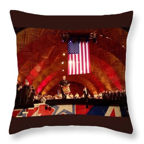 July Fourth Throw Pillow featuring the photograph Pops Finale by Barbara McDevitt