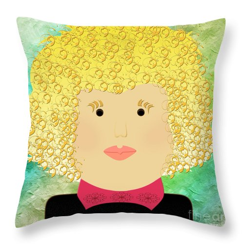 Andee Design Throw Pillow featuring the digital art Porcelain Doll 11 by Andee Design
