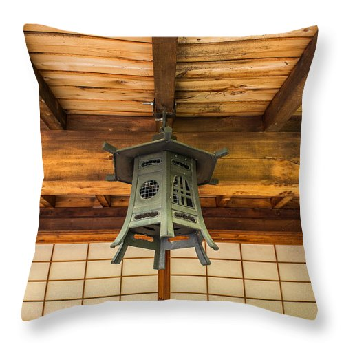 Porch Throw Pillow featuring the photograph Porch Lantern by Calazone's Flics