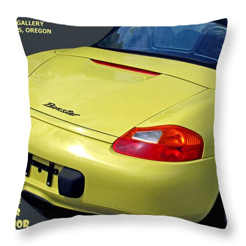 Porsche Throw Pillow featuring the photograph Porsche Boxster Posterior by Michael Moore