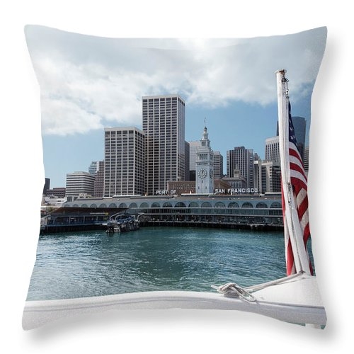 Boat Throw Pillow featuring the photograph Port Of San Francisco by Jo Ann Snover