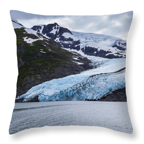 Alaska Throw Pillow featuring the photograph Portage Glacier by Kyle Lavey