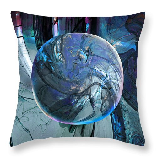 Portals Throw Pillow featuring the digital art Portal To Divinity by Robin Moline