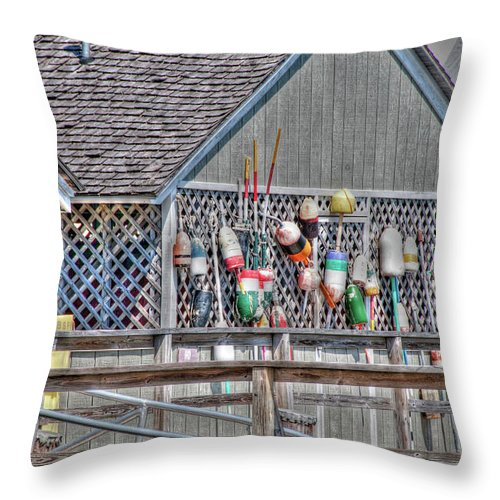 Freeport Throw Pillow featuring the photograph Porter Landing 0148 by Guy Whiteley