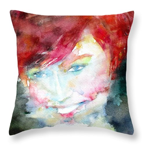 Woman Throw Pillow featuring the painting Portrait 3 by Fabrizio Cassetta
