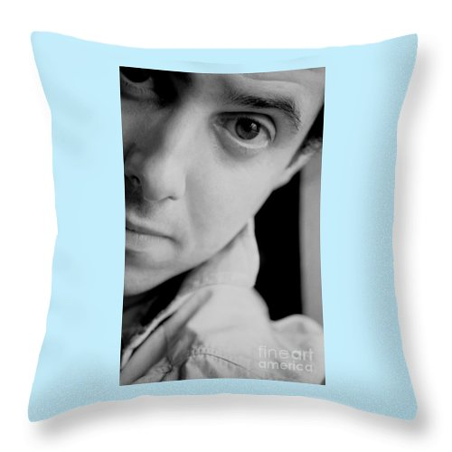 Photography Throw Pillow featuring the photograph Portrait Figurative Study Piece Of Bobby by Richard Morris