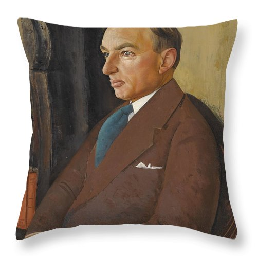 Russia Throw Pillow featuring the painting Portrait Of Isidor Polivnick by Celestial Images
