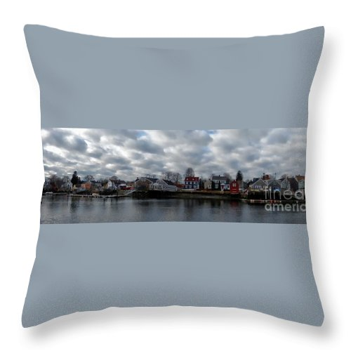 Waterscape Throw Pillow featuring the photograph Portsmouth Bay by Marcia Lee Jones