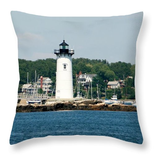 Gift Throw Pillow featuring the photograph Portsmouth Nh Harbor by Barbara S Nickerson