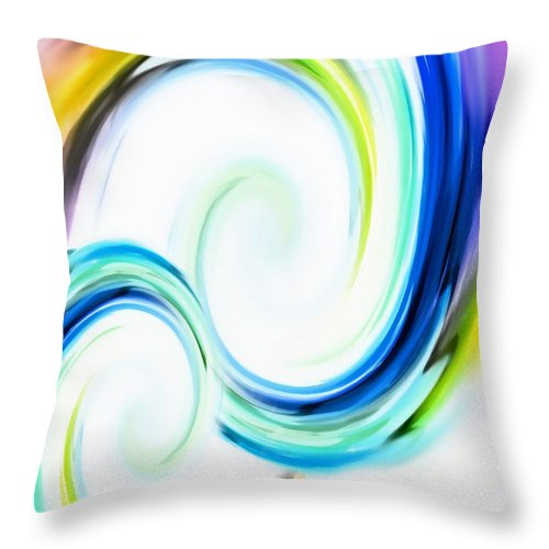 Art Throw Pillow featuring the painting Positive Energy by Barbara Chichester