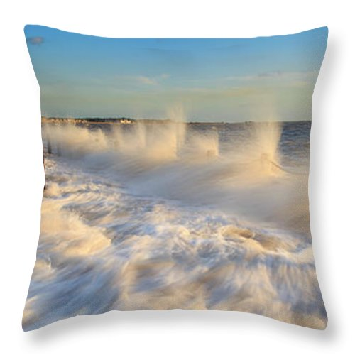 Tranquility Throw Pillow featuring the photograph Post Haste by A Pixelsuzy Image