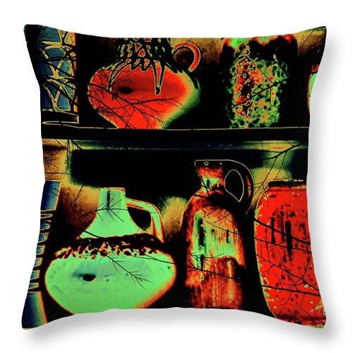 Pots Throw Pillow featuring the digital art Pot Culture by Ankeeta Bansal