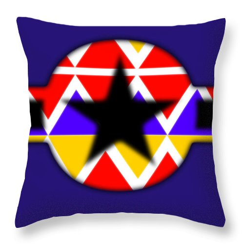 Black Throw Pillow featuring the painting Power Black by Charles Stuart