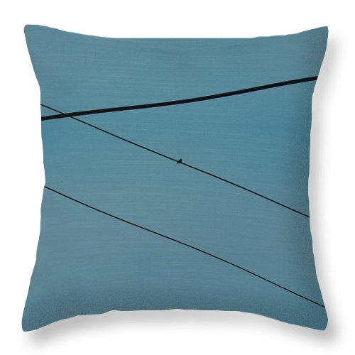 Abstractionsbyronda Throw Pillow featuring the painting Power Lines 03 by Ronda Stephens