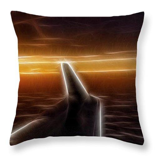 Aircraft Throw Pillow featuring the photograph Powered Flight by Albert Seger