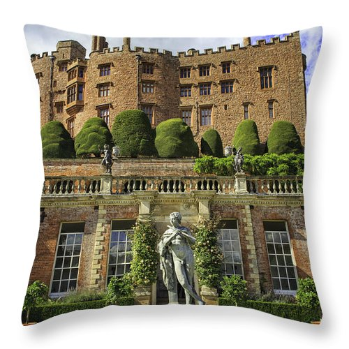 Wales Throw Pillow featuring the photograph Powis Castle by Fran Gallogly
