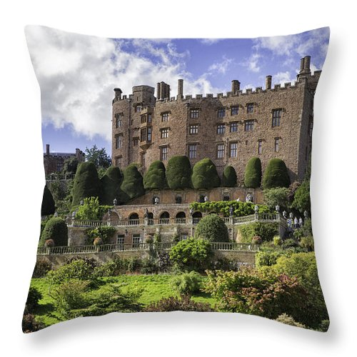 Wales Throw Pillow featuring the photograph Powis Castle Gardens by Fran Gallogly