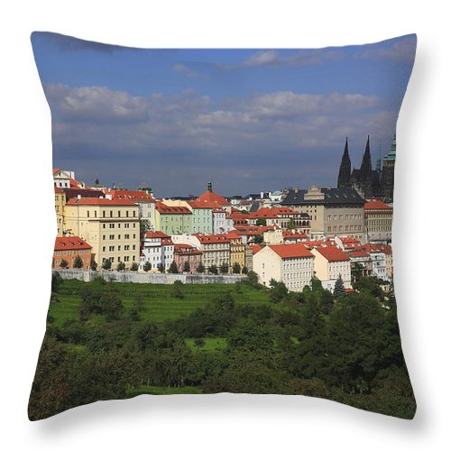 Architecture Throw Pillow featuring the photograph Prague Czech Republic by Ivan Pendjakov