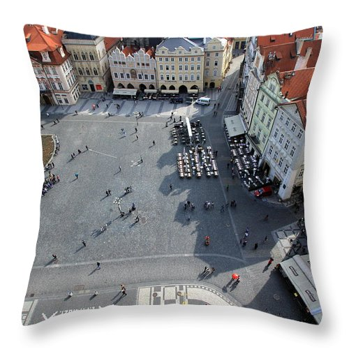 Tranquility Throw Pillow featuring the photograph Prague Old Town Square by J.castro
