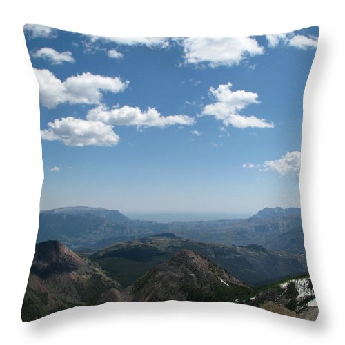 East Of Prairie Reef Fire Lookout Throw Pillow featuring the photograph Prairie Reef Lookout East by Pam Little