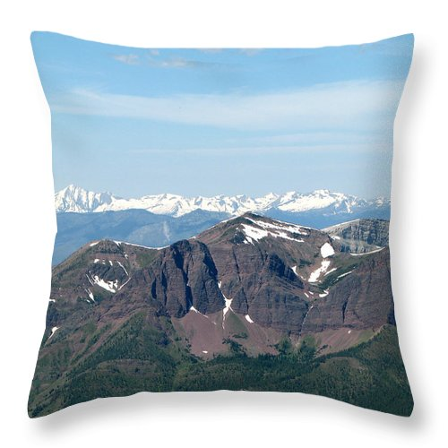 Prairie Reef Fire Lookout Throw Pillow featuring the photograph Prairie Reef Lookout West01 by Pam Little