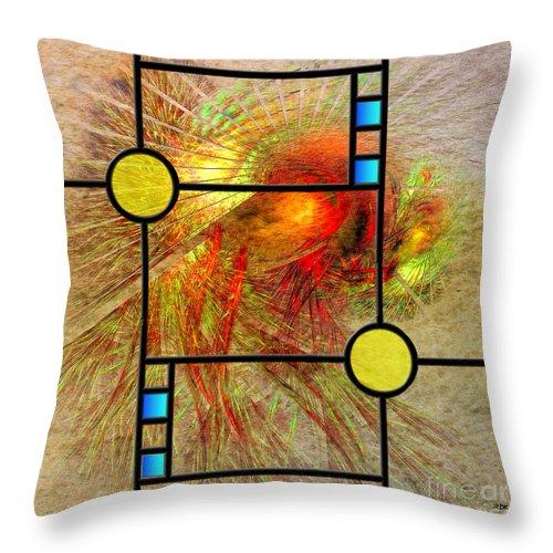 Frank Lloyd Wright Throw Pillow featuring the digital art Prairie View - Square Version by John Robert Beck
