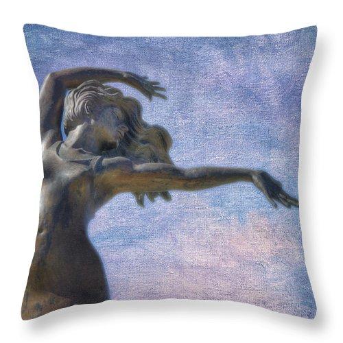 Joan Carroll Throw Pillow featuring the photograph Prairie Wind by Joan Carroll